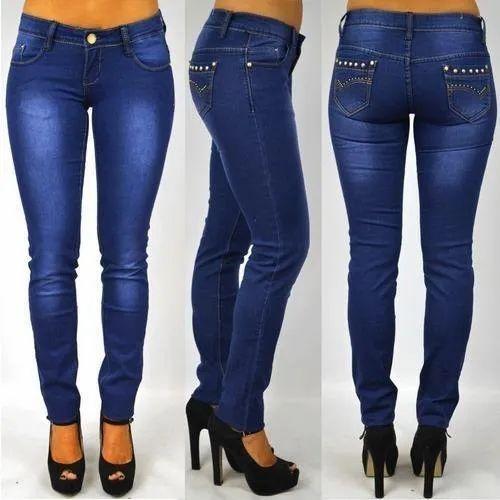 Ladies Blue Denim Jeans