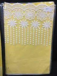 White Embroidered Palla Lace