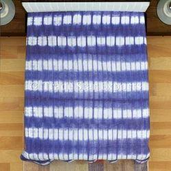 Indigo Kantha Quilt Handmade Bedspread