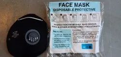 Black Disposable and Resuable N-95 Mask with Respirator/Filter/ Valve