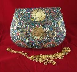 ee3151fe6bb Mosaic Chip NK Fine Mosaic Metal Clutch Purse Evening Bag