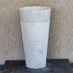 Capstona Triton White Marble Wash Basin
