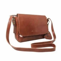 Sling Unisex Leather Side Bags, 500 Grm, Size: 10 Inch X 12 Inch