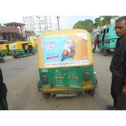 Outdoor Auto Rickshaw Branding, Mode of Advertising: Offline, Online, Size: 3x2