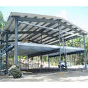 Cold Rolled A Type Prefabricated Structure Shed For Industrial