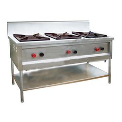 S.s LPG SS 3 BURNER STOVE, For Commercial Kitchen