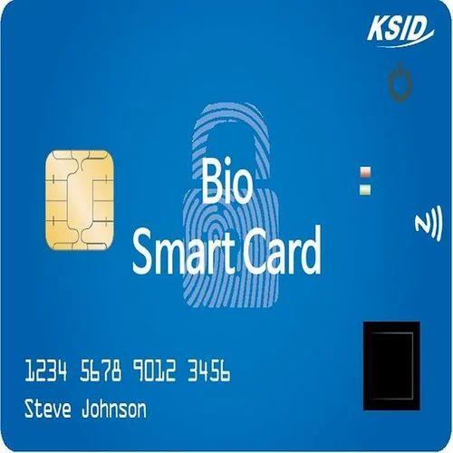 White Biometric Smart Card, Purwa Communication | ID