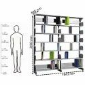 Fonzel BD2B61 2 Bay Library Shelving without Side Panels