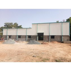 MS Prefab Industrial Prefabricated Factory Shed, For Industry