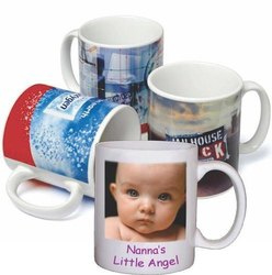 CHITRANSH Ceramic White Promotional Printed Mug for Gifting, Size/Dimension: 350 Ml