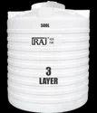 Plastic Raj Triple Layer White Roto-moulded Tank, For Water Storage