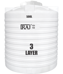 Raj Triple Layer White Roto-Moulded Tank