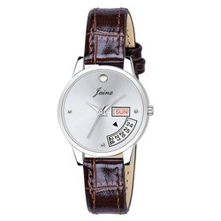 Jainx Silver Dial Day and Date Function Analog Watch for Women & Girls JW638