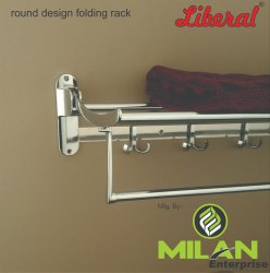 Liberal Zinc & Stainless Steel Folding Towel Rack, Packaging Type: Box