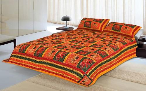 Katha Work Bed Sheets