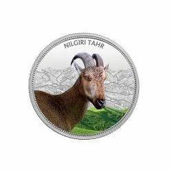 Nilgiri Tahr MMTC Silver Coin 31.10 gm