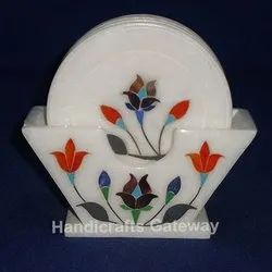Stone Inlay Tea Coaster Set