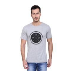 Grey Mens Printed T Shirt