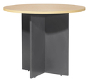 Fonzel 2115107 Wooden Round Conference Table