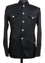 Rahman Creations Party Wear Black Formal Hunting Blazer, Size: 36 to 44