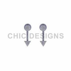 Silver Dart Jacket Earrings