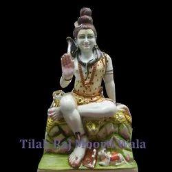 Shiv Shankar Marble Statue