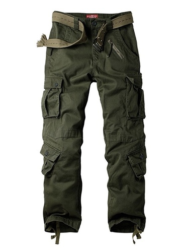 c3532e4d7 Men  s Cotton Casual Military Army Cargo Camo Combat Work Pants With 8  Pocket