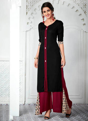 e6509ef911 Cotton Printed Office Wear Designer Kurti With Palazzo, Rs 899 ...