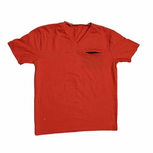 b88058d42cf Red V-Neck Combed Bio Wash Cotton