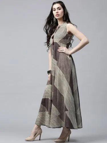 0e640578e79 Women Cotton Printed Maxi Dress, प्रिंटेड मैक्सी ...