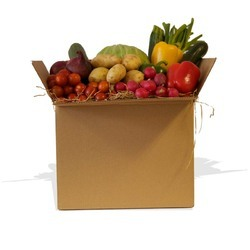 Brown Corrugated Vegetable Packaging Box, 4-6 mm, Ply: 3