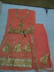 Gota Patti Work Rajputi Poshak