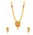 Gold Necklace Set Graced With Sparkling Gems