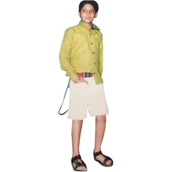 Cotton Casual Wear Boys Half Pant Shirt Set