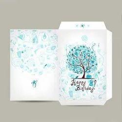 Cardboard Rectangular Designer Birthday Envelope, Packaging Type: Packet