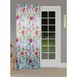 Polyester Lushomes Floral Printed Poleyster Door Curtains with Eyelets