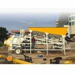Diesel Engine Semi-Automatic Reversible Drum Mobile Concrete Batching Plant