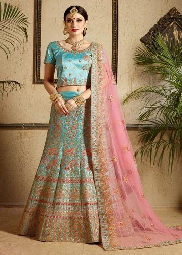 c200e841bf Satin Stone Work Designer Wedding Lehenga Choli, Rs 4350 /piece | ID ...