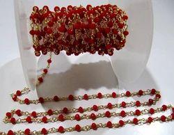 Carnelian Chalcedony Rosary Chain