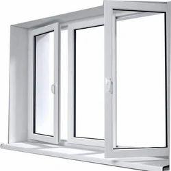 White UPVC Hinged Window, Width: 2 To 4 feet