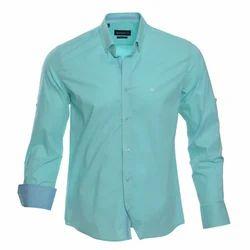 Regular Fit Plain Mens Cotton Shirt