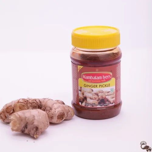 Spicy Mambalam Iyer Ginger Pickle, Packaging Type: Pet Jar, Packaging Size: 200 Gm
