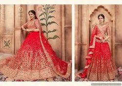 Red Dori Work Lehenga Choli