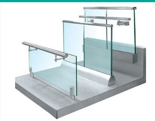 Aluminium Panel Glass Railing, Rs 330 /foot Scatt Tech | ID: 20754788412