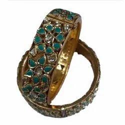 Kundan Firoja Wedding Wear Stone Gold Bangle
