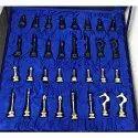 Brass Chess Set Golden Black Carving 12 Inch Slim Modern