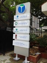 Colored Pylon Sign Board