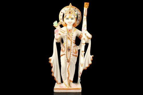 Marble Ram Statue