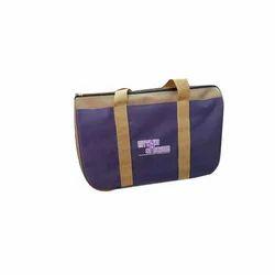 Purple And Brown Printed Gift Bag