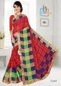 Damini Print Border Less Saree